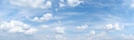 Light blue sky with beautiful romantic cloudscape - panorama