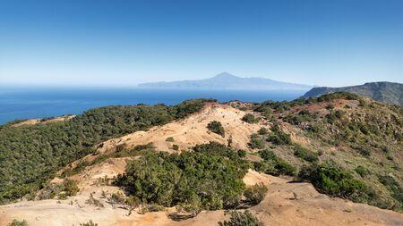 View over the landscape Cumbre de Chijere in the northwest of La Gomera