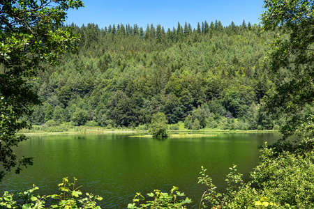 Lake Sankenbachsee near Baiersbronn, Black Forest, Germany - taken from the circular hiking trail on the south side