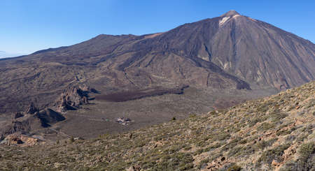 National Park Tenerife with volcano Teide - view from the western flank of the Montana de Guajara