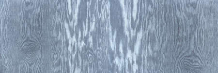 Blue-gray wood with intense vertical grain and rough, slightly weathered surface in panoramic close-up
