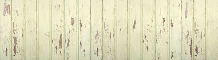 Pastel light green, weathered wooden wall made of vertical boards in panoramic close-up