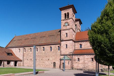 Monastery church in Klosterreichenbach, tourist attraction near Baiersbronn in the Black Forest, Germany Foto de archivo