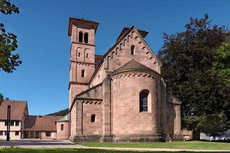 Monastery church in Baiersbronn Klosterreichenbach in the Black Forest, Germany Foto de archivo