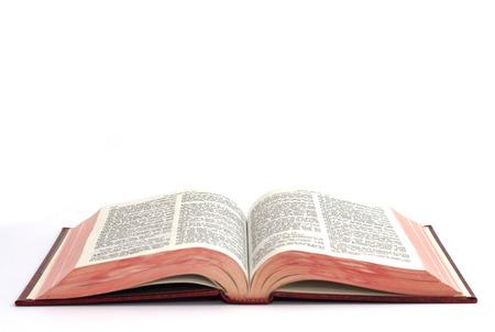offen: Heilige Bibel isoliert auf weißem Hintergrund Lizenzfreie Bilder
