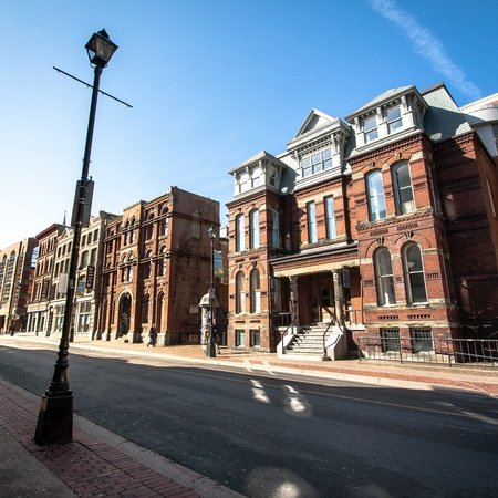 Historic Buildings in Downtown Halifax, Nova Scotia, Canada photo