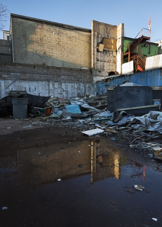 urban decay: Urban Decay Reflection Stock Photo