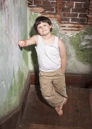 khakis: Boy in White Shirt and Khaki Pants