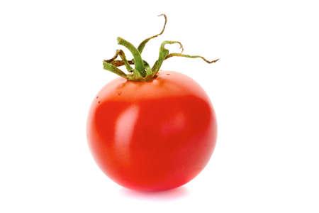 Ripe red tomatoe isolated on white background Stock Photo
