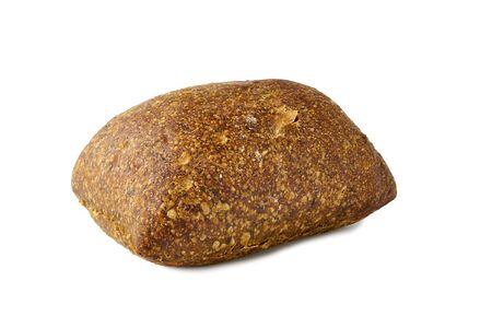 Freshly baked bread bun on white background
