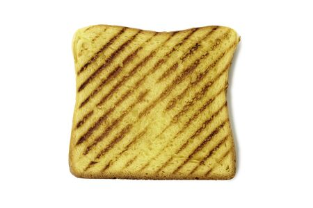 Slice of roasted toast bread on white background Banco de Imagens - 132050919