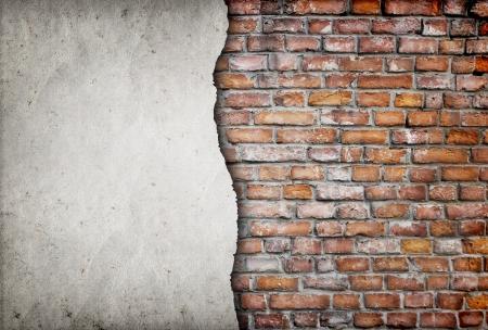 Fissuré vieux mur de brique Banque d'images - 23952634