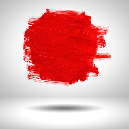 steady: surface blank red paint on grey background Stock Photo