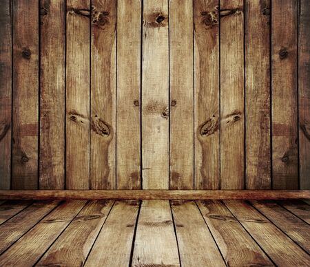 old wood: vintage brown wooden planks interior background