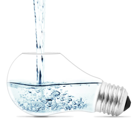 Lightbulb with a water inside  Abstract concept