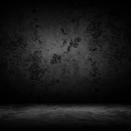 タイルの床と壁の背景と暗い部屋