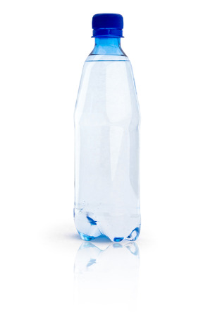 One bottle  with water isolated on white background Stock Photo