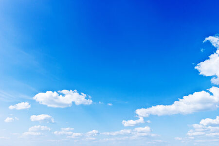 sky and clouds: Blue sky with white clouds background