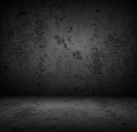 Fundo da parede de concreto escuro Imagens