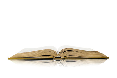 holy book: Open book isolated on white background