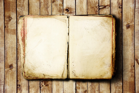 note books: Open Book blank on old wooden background