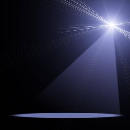 blue spotlight: ilustration of concert spot lighting over dark background