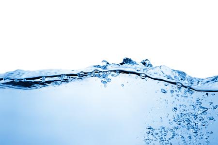 Agua y burbujas de aire sobre fondo blanco Foto de archivo - 34128662