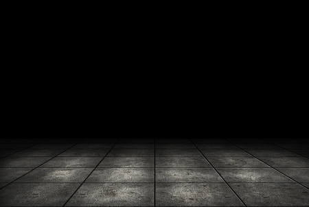 dark room: Dark room with tile floor background