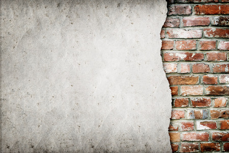 cemento: viejo muro de ladrillo