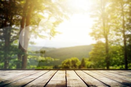 Mountains landscape with sunlight. Beauty nature background
