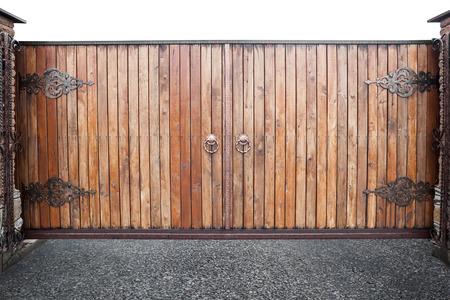 puertas de hierro: Puertas de madera Cerrado fondo