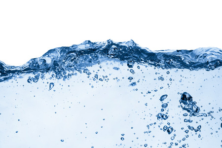 air bubbles: Water and air bubbles over white background Stock Photo