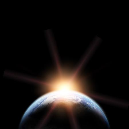 地球。スペースからの眺め。 写真素材