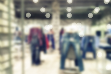 Blur store background with bokeh photo