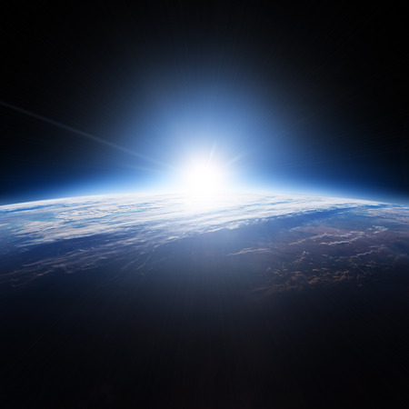 Earth. View from space. Elements of this image furnished by NASA 写真素材