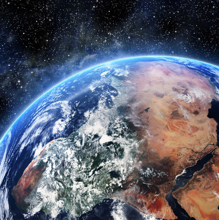 Earth. View from space. Elements of this image furnished by NASA Standard-Bild