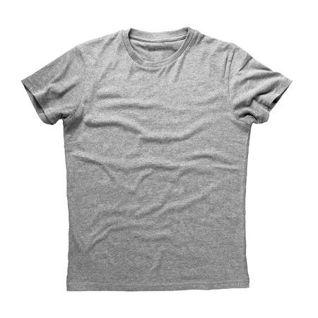 회색 셔츠는 흰색 배경에 고립