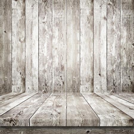 Wooden shelf over wood background