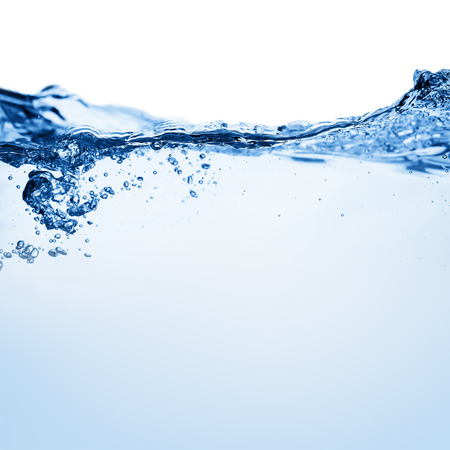 Water and air bubbles over white background Archivio Fotografico