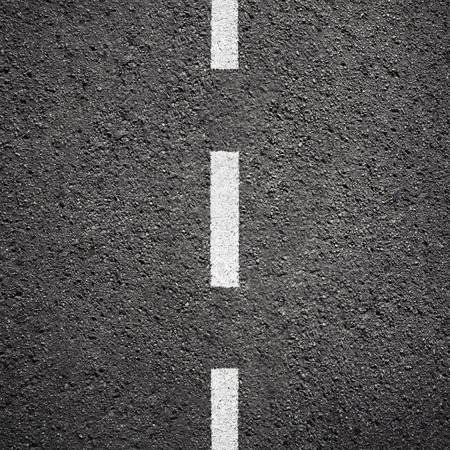 Asphalt texture background with white line Banco de Imagens