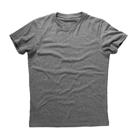 blank t shirt: Grey shirt isolated on white background