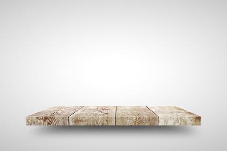 wooden shelf: Wooden shelf on white background