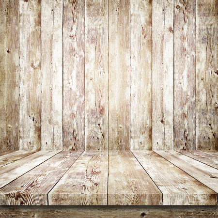 Wooden shelf over wood background
