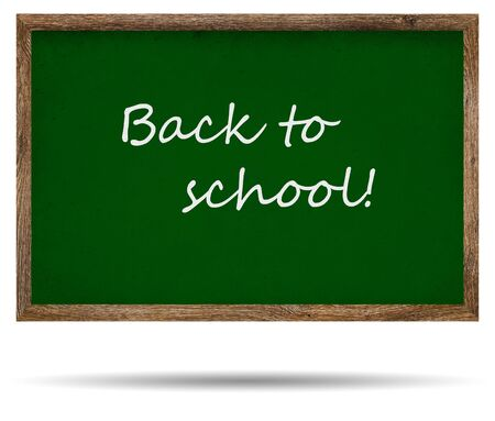 Green school board chalkboard with text photo