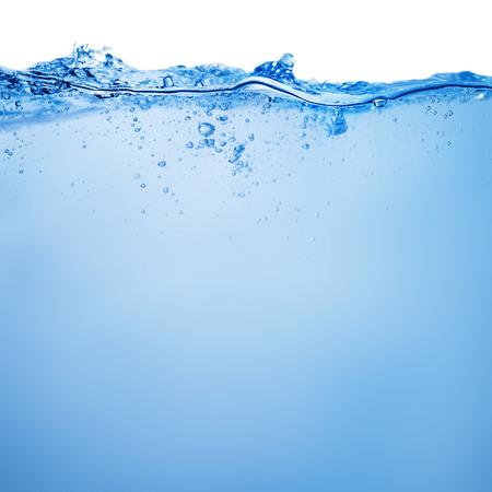 Acqua e bolle d'aria su sfondo bianco Archivio Fotografico - 43472144