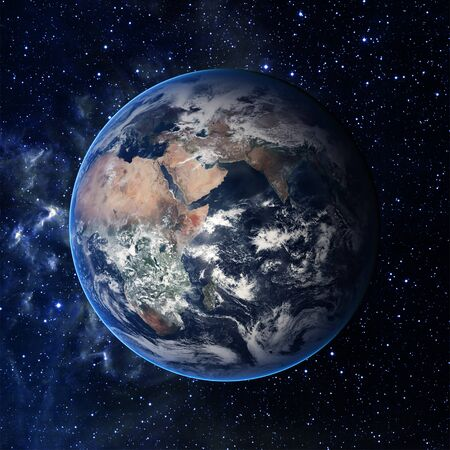 earth space: Earth. View from space.