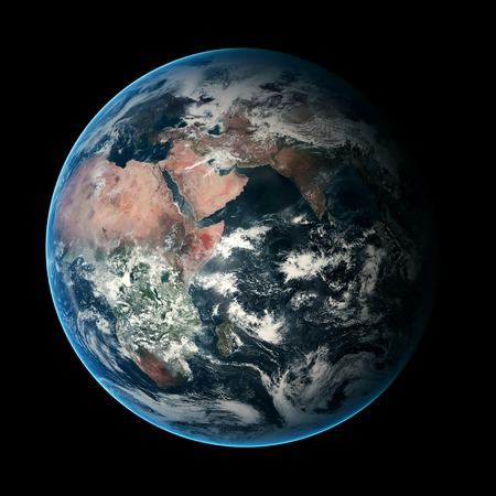 earth space: Earth. View from space. Elements of this image furnished by NASA Stock Photo
