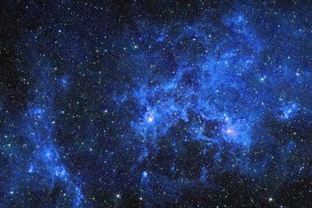 blue stars: Galaxy stars. Abstract space background. Elements of this image furnished by NASA