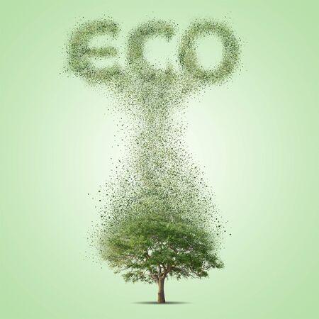 green environment: Green tree. Environment eco concept illustration