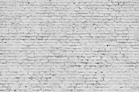Old grunge brick white wall background